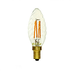 E14 2200K-3000K 150-260Lm 220V 3W 4LED Dimmable Retro Imitation Tungsten Filament LED Candle Light