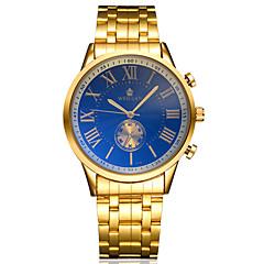 Masculino Relógio de Pulso Automático - da corda automáticamente Gravação Oca Lega Banda Dourada marca-
