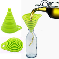 Food Grade Eelescopic The Silicone Folding Funnel Random Color