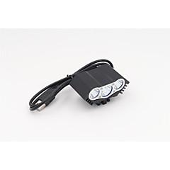 조명 자전거 라이트 LED 1200 루멘 3 모드 크리T6 USB 방수 / 충전식 캠핑/등산/동굴탐험 / 일상용 / 사이클링 / 사냥 / 낚시 / 수중 스포츠 / 일 / 멀티기능 / 등산 / 야외 알루미늄 합금