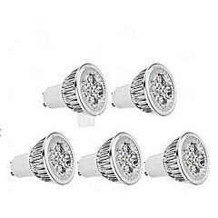 5W GU10 LED Spotlight MR16 1 350-400 lm Cool White Dimmable AC 220-240 V 5 pcs