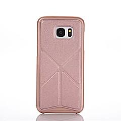 Mert Samsung Galaxy tok Origami / Mágneses Case Hátlap Case Egyszínű PC Samsung S6 edge plus / S6 edge / S6