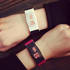 Herr Armbandsur Digital LED Gummi Band Svart / Blå / Gul / Rosa Stämpla-