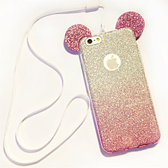 Til iPhone 8 iPhone 8 Plus iPhone 6 iPhone 6 Plus Etuier Andet Bagcover Etui Glitterskin Blødt TPU for iPhone 8 Plus iPhone 8 iPhone 7