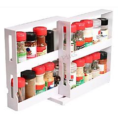 edición especia pila del chef - botella organizador de especias, blanco