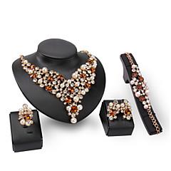Dames Sieraden Set Imitatie Parel Bergkristal Modieus PERSGepersonaliseerd Euramerican Opvallende sieraden Kostuum juwelen Imitatieparel
