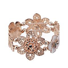 Dame Charm-armbånd Strand Armbånd ID Armbånd Hul luksus smykker Europæisk Krystal Kvadratisk Zirconium Imitation Diamond Hvid Guld/Hvid