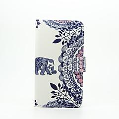 Varten LG kotelo Korttikotelo / Lomapkko / Tuella / Flip / Kuvio Etui Kokonaan peittävä Etui Elefantti Kova Tekonahka LG LG G5