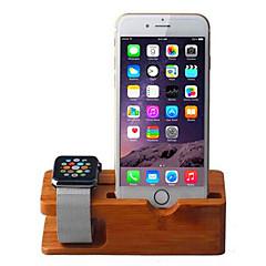 Telefonholderstativ Skrivebord Øvrigt Træ for Mobiltelefon