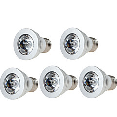 3W E14 GU10 GU5.3(MR16) E26/E27 LED-scenelys PAR38 1 Högeffekts-LED 250 LM RGB Dimbar Fjärrstyrd Dekorativ AC 85-265 V 5 st