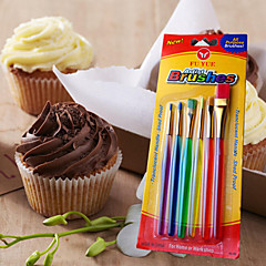 6PCS Artist Brushes Fondant Color Pen Colorful Marker Toner Paint Stroke