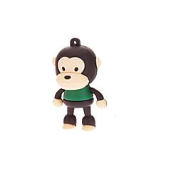 4GB de borracha bonito do macaco USB Flash Drive