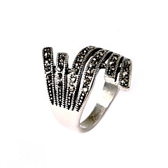 Ring Fashion Party Jewelry Silver Plated Women Statement Rings 1pc,One Size Gold