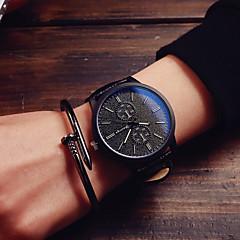 Herren Beobachten Quartz Modeuhr Leder Band Armbanduhr