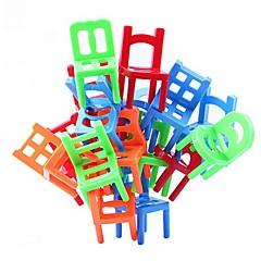 pinoaminen tuolit tasapaino peli toimisto palapeli koulutus lelu monivärinen (18kpl)