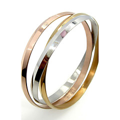 Triple Layer Stainless Steel Colorful Round Bangle