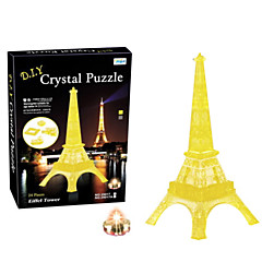 Diy 3 D Crystal Paris Eiffel Tower Blocks Puzzle Children Educational Toys Creative Small Ornament Toys Without Light
