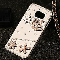 Kunststoff Diamant Luxus Blick zurück Abdeckung für Samsung-Galaxie s6 / galaxy s6 Rand / Galaxie s6 Rand Plus
