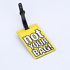 Travel Etiquette de Bagage Accessoire de Bagage Plastique Violet
