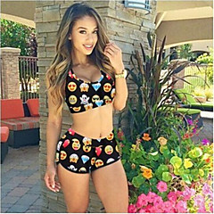 The New Two-piece Swimsuit Hot Women Seven Printing Female Swimsuit Bikini
