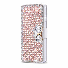 πολυτέλεια λαμπερό διαμάντι πλήρη pu δέρμα κάλυψης περίπτωσης με ασφαλή υπόθεση πόρπη κινητό τηλέφωνο bling για το iphone 5 / 5S