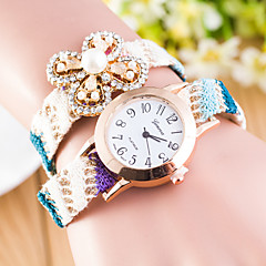 Women's  Folk Style Color Gradually Braided Quartz Watch Love Pearl Clover(Assorted Colors) Cool Watches Unique Watches