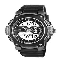 Alike®Men's Dual Time Zone Outdoor Sports Multifunction Waterproof Wrist Watch Assorted Colors Cool Watch Unique Watch