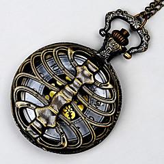 Unisex Pocket Watch Bronze Queen Spine Quartz Flip Pocket Watch