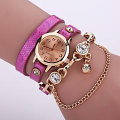 Женские Модные часы Кварцевый Кожа Группа Цветы Черный / Белый / Синий / Оранжевый / Коричневый / Розовый бренд-