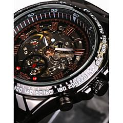 WINNER Męskie Szkieletowy zegarek mechaniczny Zegarek na nadgarstek Nakręcanie automatyczne Wodoszczelny Grawerowane tachymeter Świecący