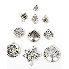 Beadia Antique Silver Metal Charm Pendants Lucky Tree DIY Jewelry Pendant