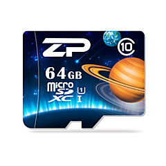 ZP 64GB TF cartão Micro SD cartão de memória UHS-I U1 class10