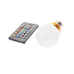 5W E26/E27 LED Globe Bulbs G60 1 lm RGB Remote-Controlled AC 85-265 V