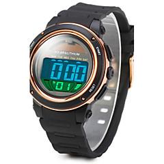 SKMEI Men's Sport Watch Wrist watch Digital Watch LCD Calendar Water Resistant / Water Proof Alarm Solar Luminous Stopwatch Digital Rubber