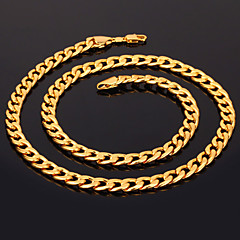 U7® Men's 18K Chunky Gold Filled Necklace High Quality Gold Plated Figaro Chains for Men 7MM 55CM 22inches Christmas Gifts