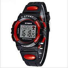 SYNOKE Børn Sportsur Armbåndsur Digital Watch LCD Kalender Kronograf Vandafvisende alarm Selvlysende Digital PU Bånd Sort Blåt Grøn