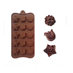 15 Tulip Flowers Even Baking Chocolate Molds