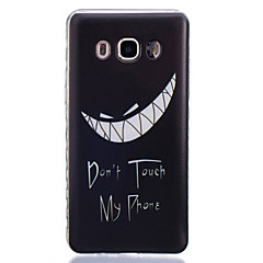 Mert Samsung Galaxy tok Átlátszó Case Hátlap Case Alb negru Puha TPUJ7 / J5 (2016) / J5 / J3 / J2 / J1 (2016) / J1 Ace / J1 / Grand Prime