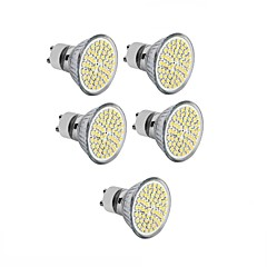 5PCS GU10/E27/MR16  60SMD 3528 2835 LED Warm White /White Spot Light Bulb Lamp 3W Energy Saving