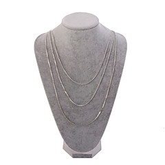 Silver Crystal Multilayer Layered Necklace for Wedding Party