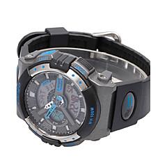 Masculino Relógio Esportivo Digital PU Banda Preta Branco Azul Prata Prata Laranja Amarelo Vermelho Azul