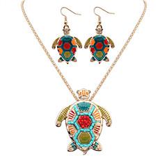 Biżuteria Ustaw Modny Silver Golden Naszyjnik / Kolczyki Impreza Codzienny Casual 1set Naszyjniki Náušnice Prezenty ślubne