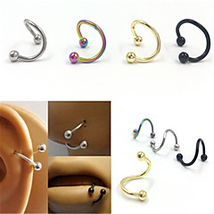 316L Stainless Steel Nose Rings & Studs Nose Ear Piercing Ring Body Jewelry