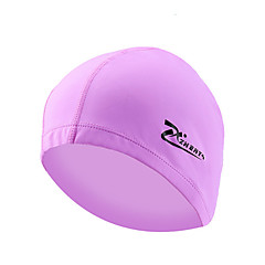 Elastic Waterproof PU Fabric Protect Ears Long Hair Sports Swim Pool Hat Swimming Cap Free size for Men & Women Adults