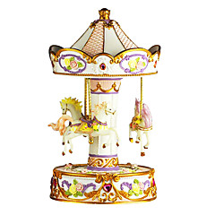ABS Pink/White Creative Romantic Music Box for Gift