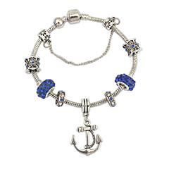 Bracelet/Chain Bracelets / Charm Bracelets Alloy / Rhinestone Inspirational Wedding / Party / Daily / Casual Jewelry Gift Silver / Green,