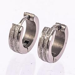 Kolczyki na sztyft Kolczyki koła Silver Biżuteria Na Ślub Impreza Codzienny Casual Prezenty bożonarodzeniowe 1 para