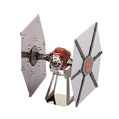 Puzzles 3D - Puzzle / Metallpuzzle Bausteine DIY Spielzeug Space Ship Metall Elfenbein / Rot Model & Building Toy