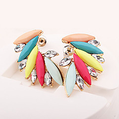 Earring Wings/Feather Stud Earrings Jewelry Women Fashion Daily / Casual Alloy / Resin 1 pair Gold