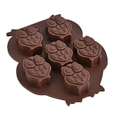 1 pc Owl Shaped Silicone Cake Mold Chocolate Mold DIY Ice Cube Tray Soap Mold Random Color